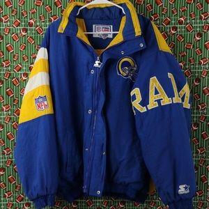STARTER Jackets & Coats - Vintage Los Angeles Rams Starter Coat